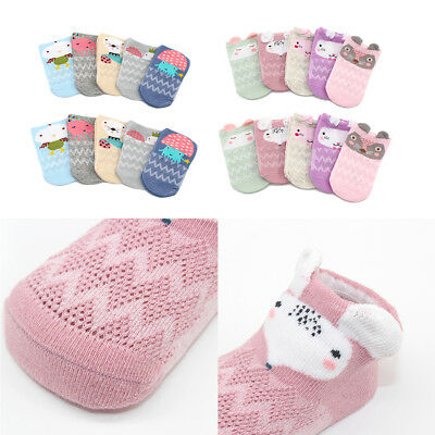 5Pairs Breathable Baby Mesh Ankle Socks Boy Girl Infant Children Soft 0-12M