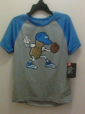 Nwt Under Armour Toddler Boy's Mr. Peanut Baseball Print T-Shirt Size 2T