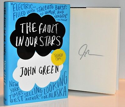 The Fault in Our Stars AUTOGRAPHED JOHN GREEN  (SIGNED 1st Print/Ed) HX