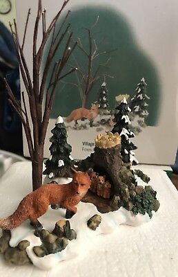 Dept 56 Woodland Animals At Mill Creek , Village Accessories Foxes In The Forest
