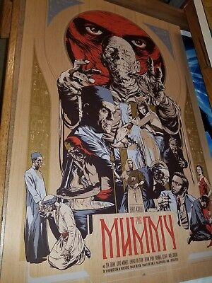 Martin Ansin The Mummy Wood Variant AP Mondo Poster UNIVERSAL MONSTERS edition/5