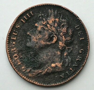 Dated : 1823 - One Farthing - Copper Coin - King George IIII - Great Britain