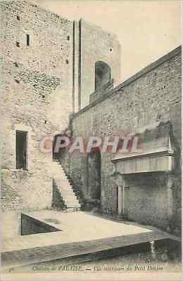 Vintage Postcard Castle of Cliff seen interior of the Small Keep