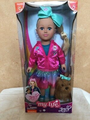 "New JoJo Siwa My Life Doll 18"" Walmart Exclusive With BowBow Plush Dog"