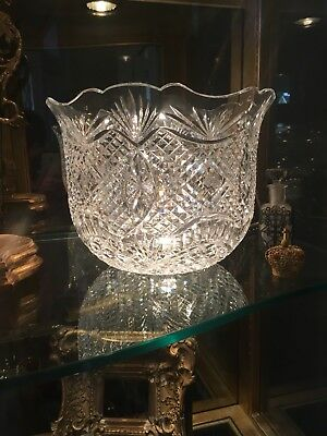 """MONUMENTAL """"Master Cutter"""" Double Signature WATERFORD crystal centerpiece bowl"""