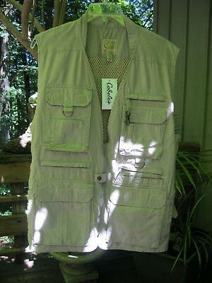 Cabelas Series Safari Fishing Hunting Photographer Vest Mens L New with tags