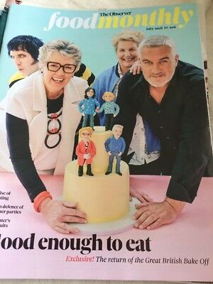 FOOD MONTHLY OBSERVER UK GREAT BRITISH BAKE OFF July 2018