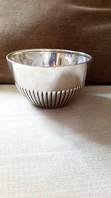 Antique Solid silver Hallmarked for London 1900 Bowl By Mapping And Web