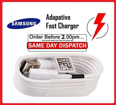 Genuine Original Samsung Galaxy A3 A5 S8 S9 S6 S7 Edge Fast Charger USB Cable