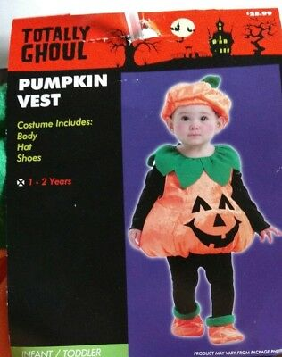 Pumpkin Halloween Costume for Infant or Toddler 1-2 Years