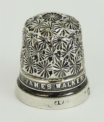 Lovely GEORGE V STERLING SILVER THIMBLE 'SIZE 13' CHESTER 1924 James Walker
