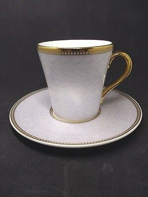 Faberge Royal Collection Bone China Lilac Coffee Cup & Saucer -St Paul's-Perfect