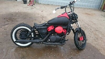 custom honda shadow 125cc bobber style 1. Black Bedroom Furniture Sets. Home Design Ideas