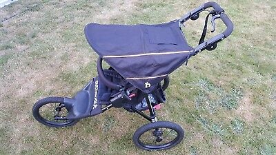 Out n About Nipper Sport V4 Raven Black Pushchairs Single Seat Stroller Jogger