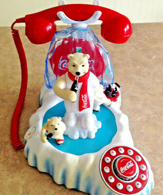 Vintage Coca-Cola Animated Skating Polar Bear with Music Phone