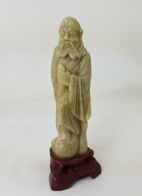 Small Chinese Soapstone Craved Scholar