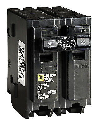 Square D By Schneider Electric HOM250CP Homeline 50-Amp Double-Pole Circuit
