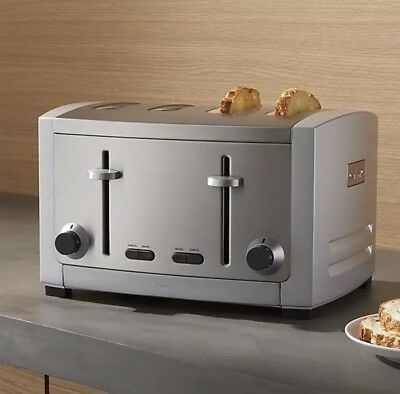 All Clad 4 Slice Stainless Steel Toaster NEW NIB Die Cast, Dual Control