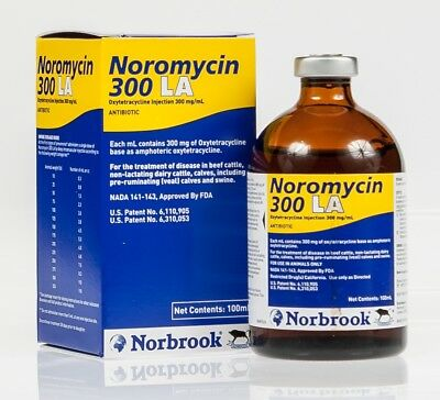 Noromycin 300 LA 100ml for Poultry/Cattle - Antibiotic