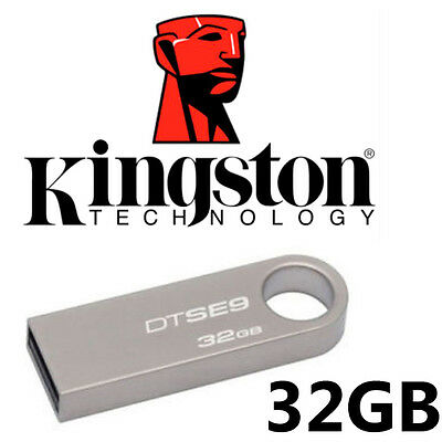 32GB Kingston DTSE9 DataTraveler SE9 USB 2.0 Flash Memory Stick