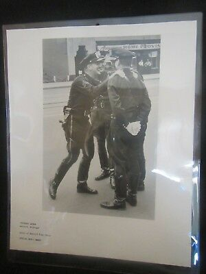 Detroit Free Press 1950's Merit Award halftone photograph 3 police officers