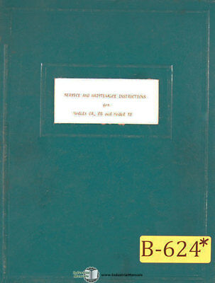 Burgmaster OA OB, Model 1D, OBs Drilling Tapping Service Manual Year (1963)