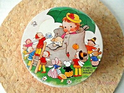 Vintage Little Friends Mabel Lucie Attwell Huntley & Palmers Biscuits Child Tin