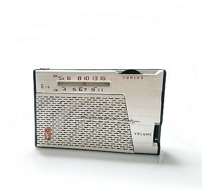 GENERAL TRANSISTOR RADIO, with leather case