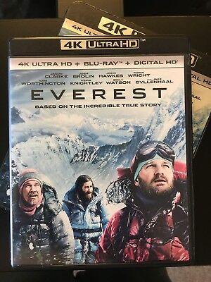 EVEREST (Josh Brolin) 4K/UHD + Blu-ray with Case!