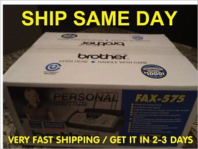 BRAND NEW-Brothers Fax-575 Plain Paper/ Phone / Copier Machine (FACTORY SEALED)