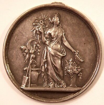 1874 Silver French Horticultural / Agricultural Award Medal Troisieme Expo