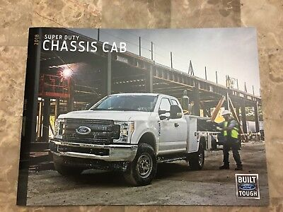 2018 FORD SUPER DUTY CHASSIS CAB 26-page Original Sales Brochure