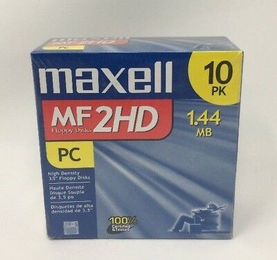 Maxell 3.5 HD 1.44MB Pre-Formatted MF2HD 10-Pack