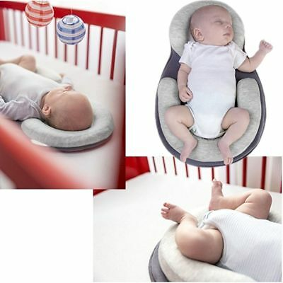 Baby Safe Cotton Anti Roll Pillow Sleep Flat Head Positioner Bedding Cot Pillows