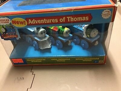 Thomas And Friends Wooden Railway Adventures Of Thomas New In Box 3 Pack Set