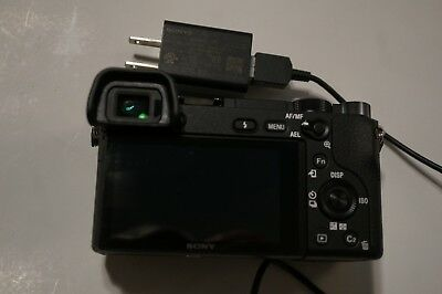 Mint Sony Alpha a6300 24MP Digital SLR Camera Black(Body Only) w/charger battery