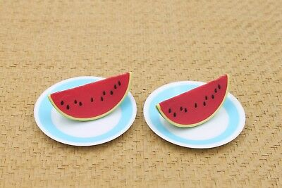 "4pcs Plates & Watermelon Fits American Girl 18"" doll from Battat Our Generation"