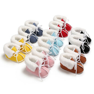 Kids Baby Girls Shoes Fluffy Fur Bowknot Toddler Infant Casual Shoes Prewalkers