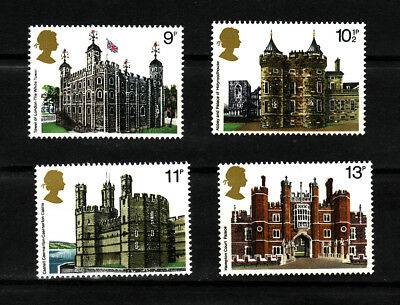 1978 GB, British Architecture, NH Mint set of stamps SG 1054-7