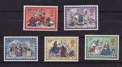 1979 GB, Christmas, NH Mint set of stamps SG 1104-08