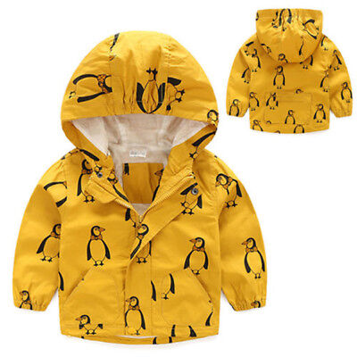AU Kids Boys Children Stormbeak Waterproof Jacket Rain Coat Windbreaker Clothes
