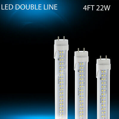 4FT T8  LED Tube Light 22w 120cm 2Line LED  G13 Bulb  Replaces 60w Fluorescent