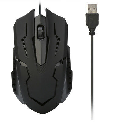 For PC Laptop 1200DPI USB Wired Optical Flexible Gaming Mice Mouse Portable Mice