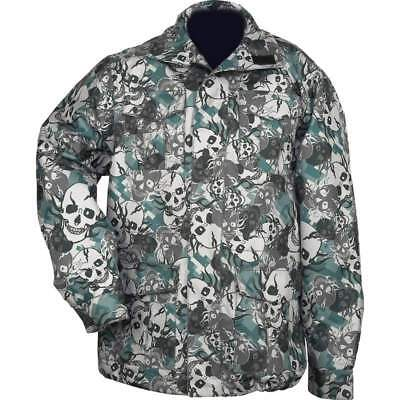 474b2491716e4 Casual Outfitters Water-Resistant Skull Camo Camouflage Zippered Field  Jacket