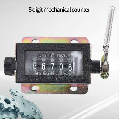 D67-F 5 Digit Mechanical Resettable Manual Hand Pull Stroke Tally Counter inm
