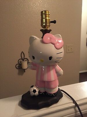 Custom Made Girls Hello Kitty Soccer Player Lamp
