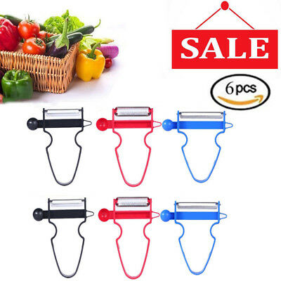 6pcs 2018 Professional Magic Trio Peeler Vegetable Fruit Julienne (Set of 3) OB