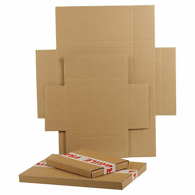 1000 C5 Brown Royal Mail Large Letter Die Cut Folding Postal Cardboard Boxes