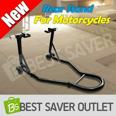 Under Fork Heavy Duty Steel Motorcycle Motorbike Rear Stand Paddock Race Lift