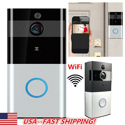 WIFI Doorbell Wireless Bluetooth Smart Home Video IR Camera Phone TOP USA